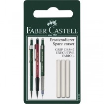 Faber Castell Grip Vario and Executive Erasers 3 pack