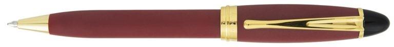 Aurora Ipsilon Satin Burgundy With Rose Gold Ballpoint
