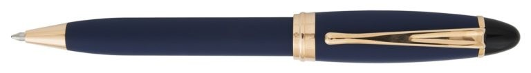 Aurora Ipsilon Satin Blue With Rose Gold Ballpoint