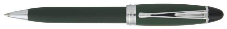 Aurora Ipsilon Satin Green With Chrome Ballpoint