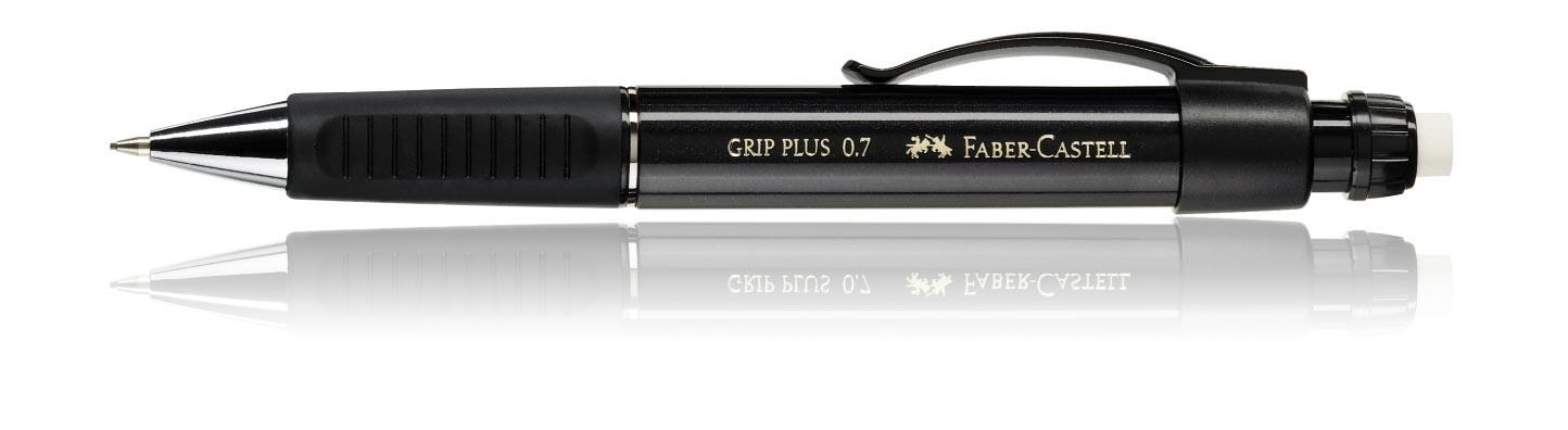 Faber Castell Design GRIP PLUS Pencil 0.7mm Metallic Black