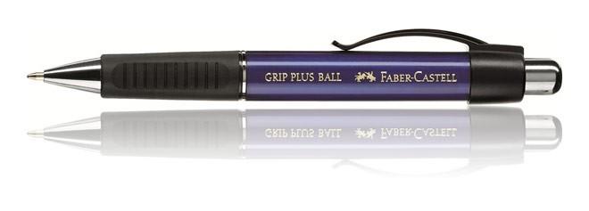 Faber Castell Design GRIP PLUS Ballpoint Pen Metallic Blue