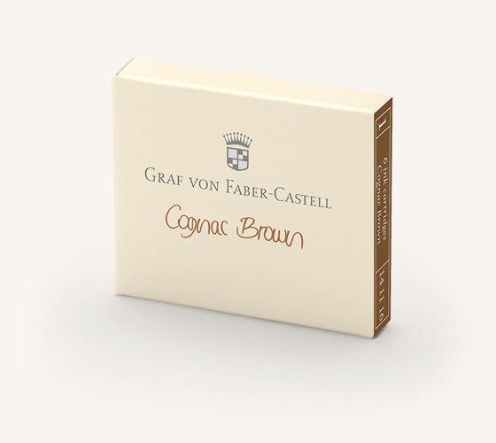 Graf von Faber-Castell Fountain Pen Ink Cartridges Cognac Brown