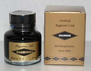 Diamine Registrar's Blue/Black Bottled Ink 30mL