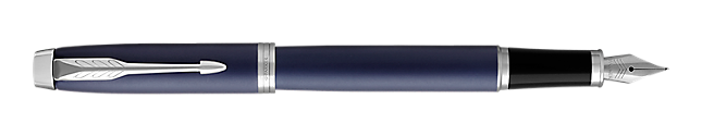 Parker IM Blue Chrome  Trim Fountain Pen