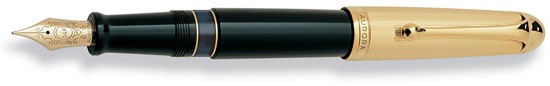 Aurora 88 Large Fountain Pen with Gold Plated Cap and Gold Trim