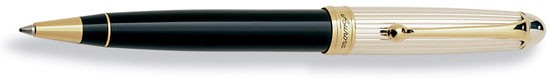 Aurora 88 Sterling Silver Cap with Black Barrel Ballpoint