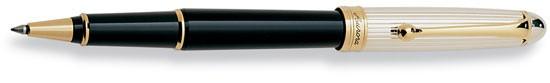 Aurora 88 Sterling Silver Cap with Black Barrel Rollerball