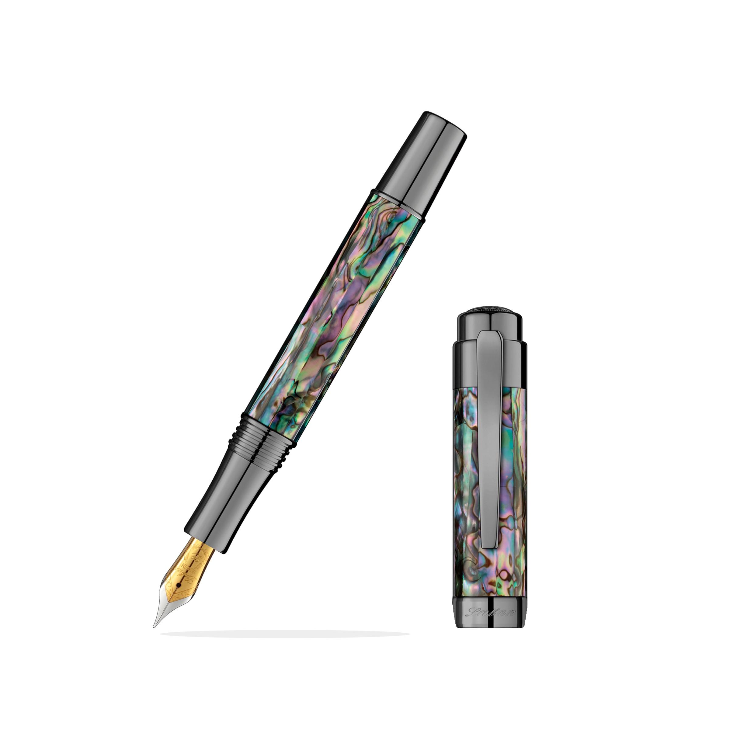 Laban Abalone Gunmetal Fountain Pen