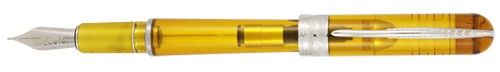 Pineider Avatar UR Demonstrator Amber Fountain Pen