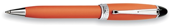 Aurora Ipsilon Satin Orange With Chrome Ballpoint