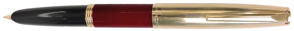 Aurora Duo Carte Burgundy With Gold Cap Fountain Pen