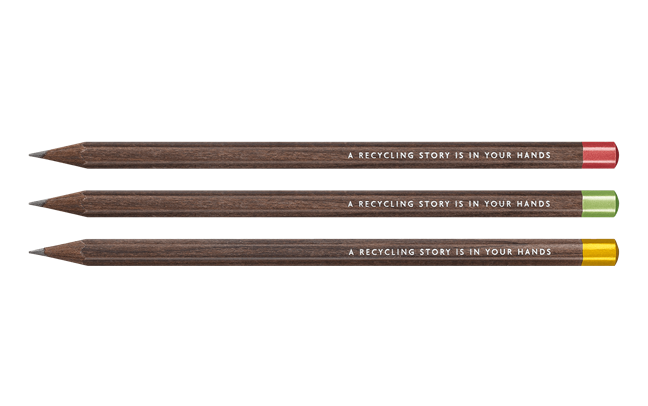Caran d'Ache Nespresso Limited Edition 4 Set Of 3 Swiss Wood Pencils