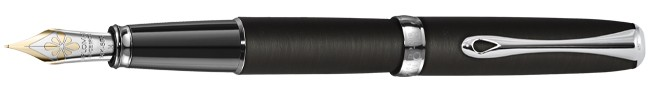 Diplomat Excellence A² Oxyd Iron Fountain Pen 14k Gold Nib