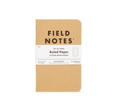 Field Notes Original Kraft Ruled 3 Pack