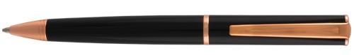 Monteverde Impressa Black and Rose Gold Trim Ballpoint Pen