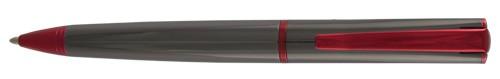 Monteverde Impressa Gun Metal Red Trim Ballpoint Pen