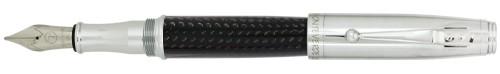 Monteverde Invincia Chrome / Carbon Fiber Fountain Pen