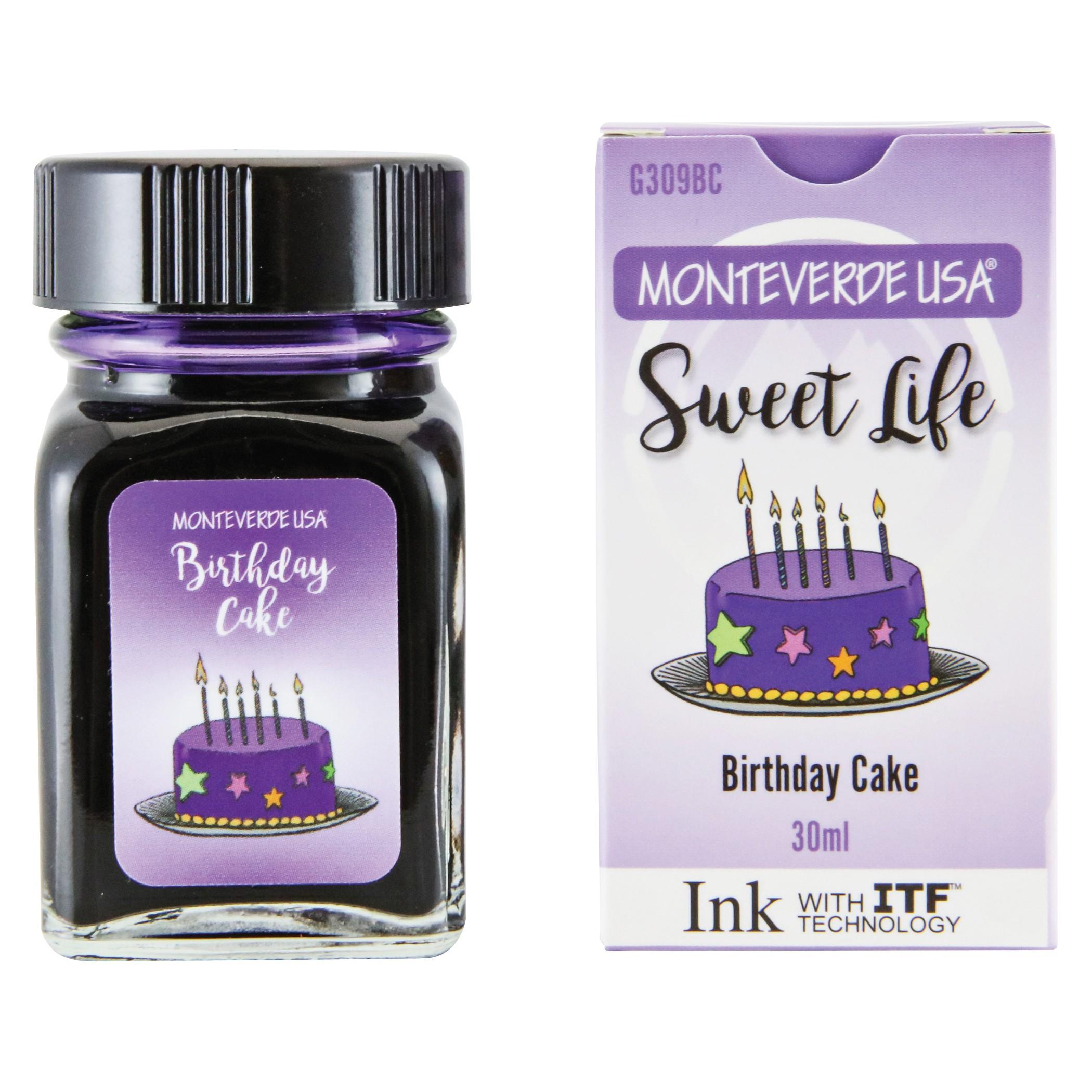 Monteverde Sweet Life Bottled Ink 30mL Birthday Cake
