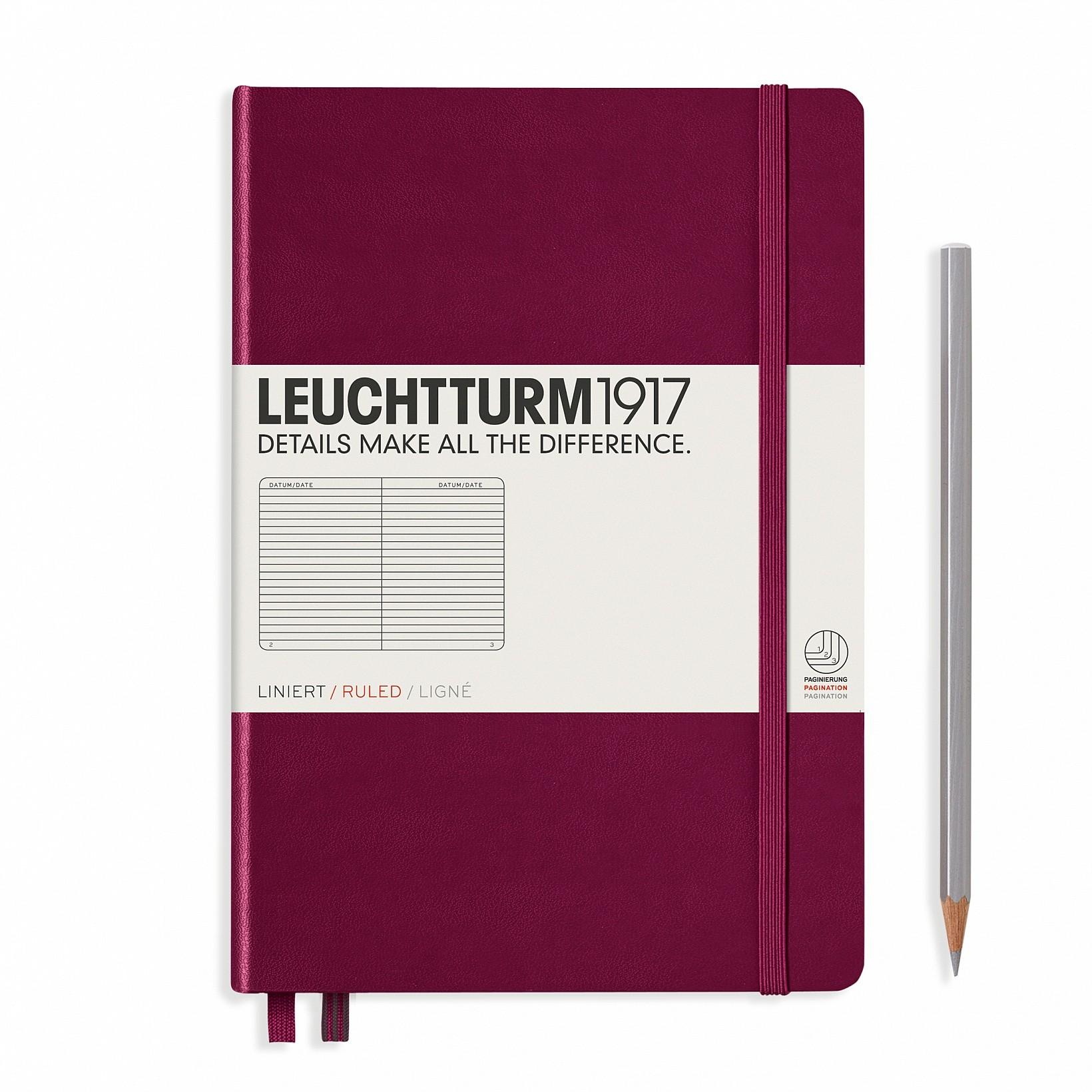 Leuchtturm 1917 A5 Hardcover Journal Port Red