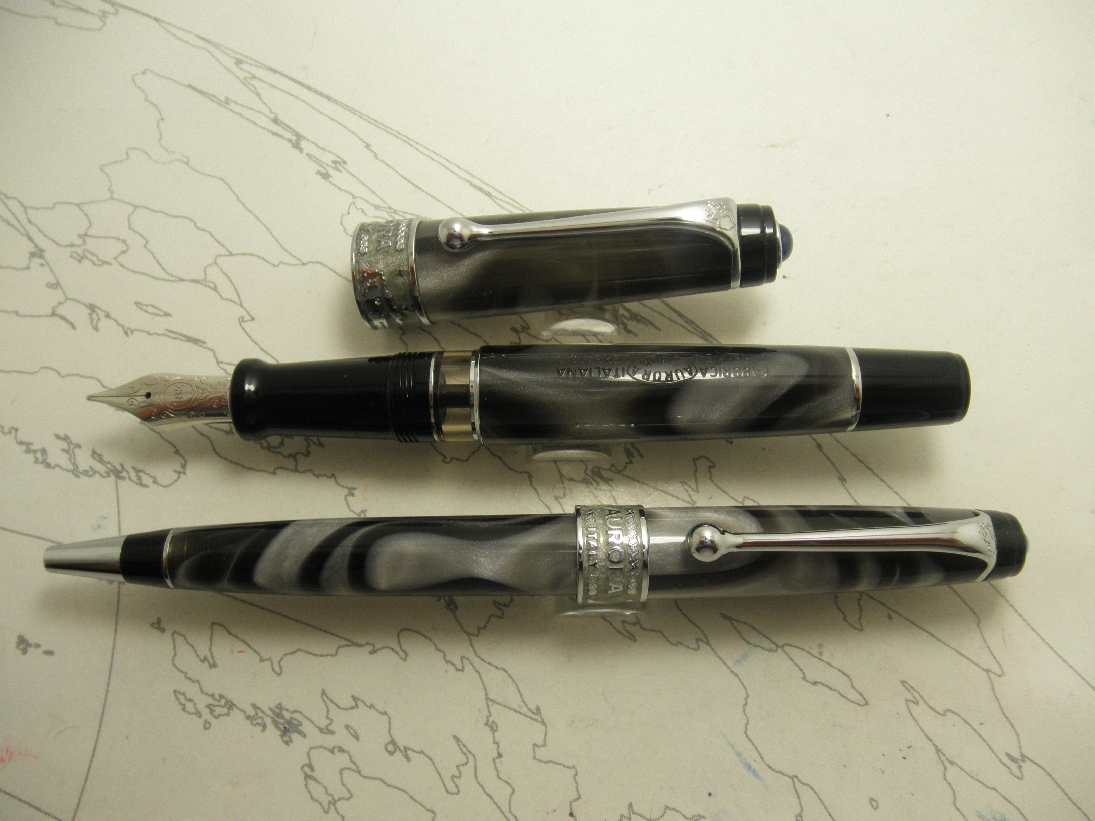 Aurora Europa Limited Edition Fountain Pen and Ballpoint Set