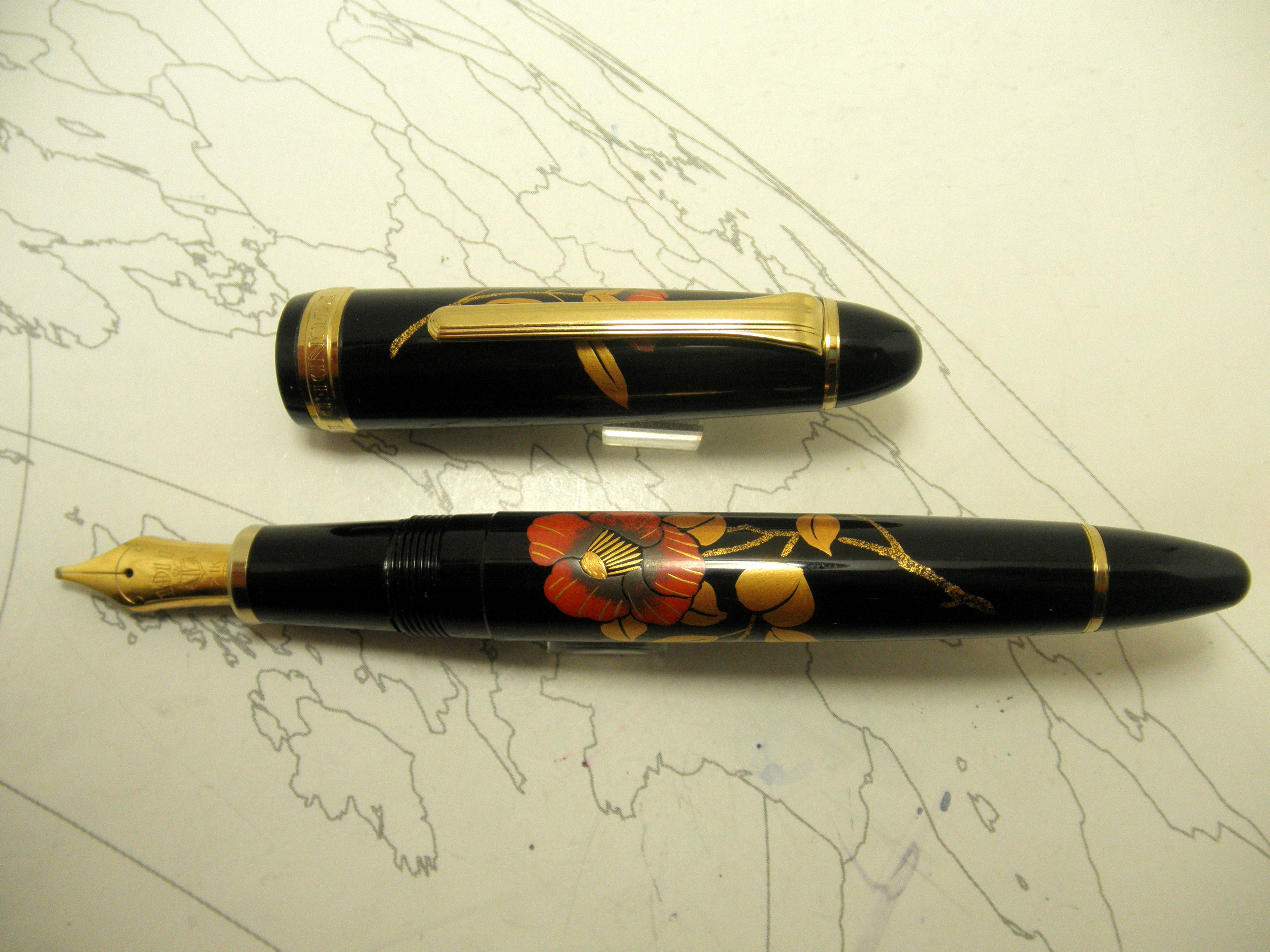 Sailor 1911 Maki-e Flower Fountain Pen