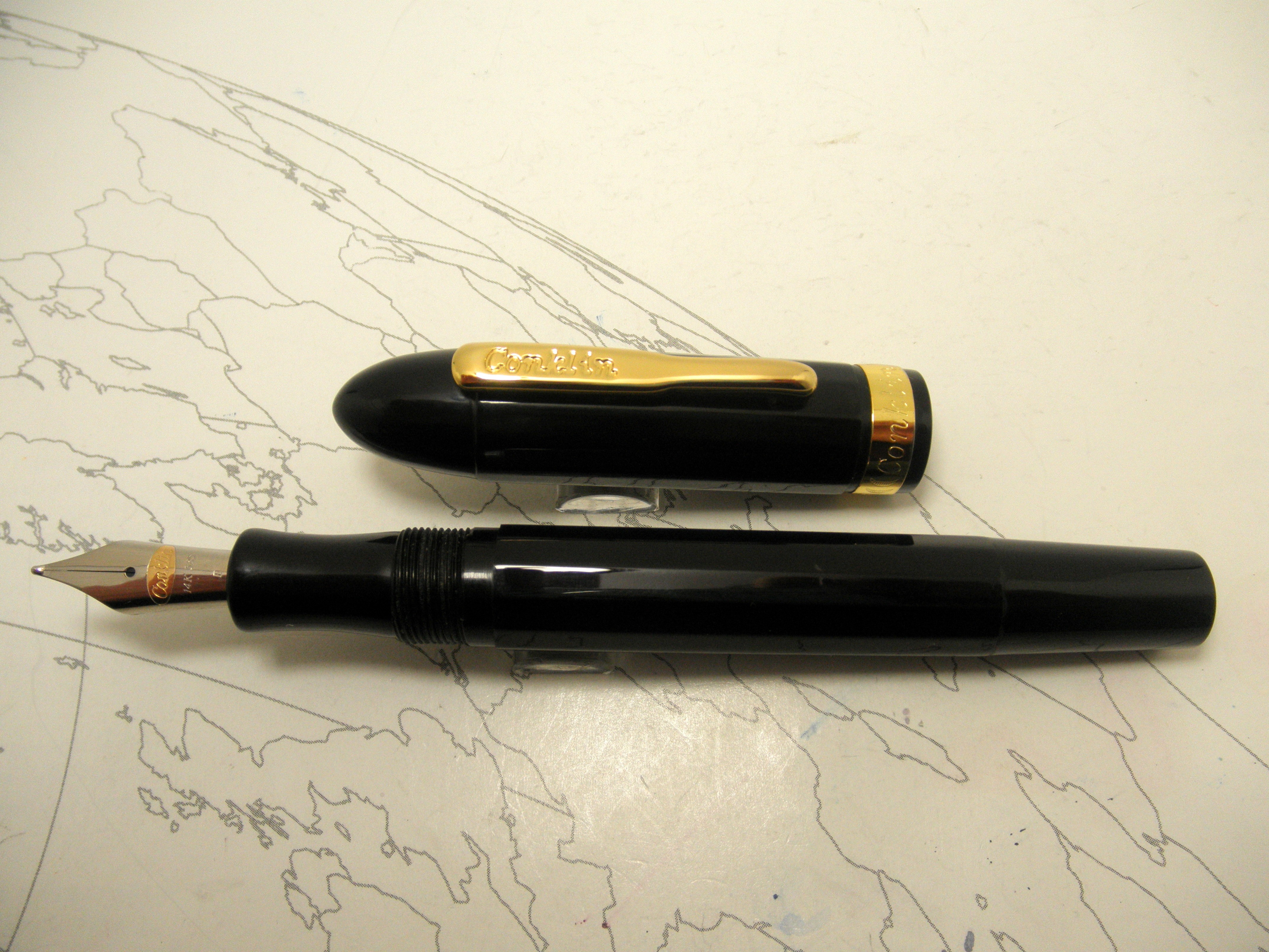 Conklin Nozac Black Fountain Pen