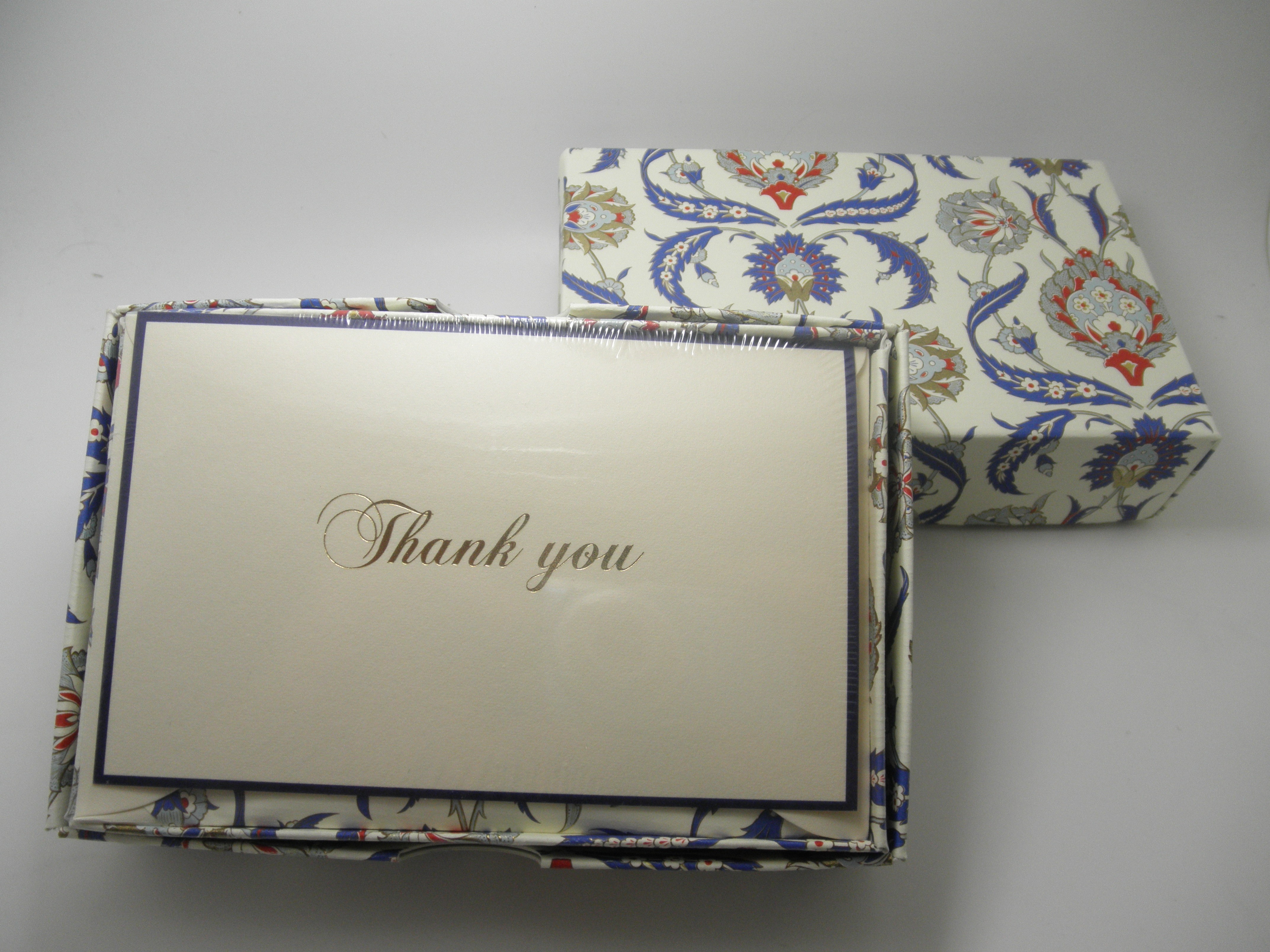 Rossi Stationery Thank You Cards Blue/Red