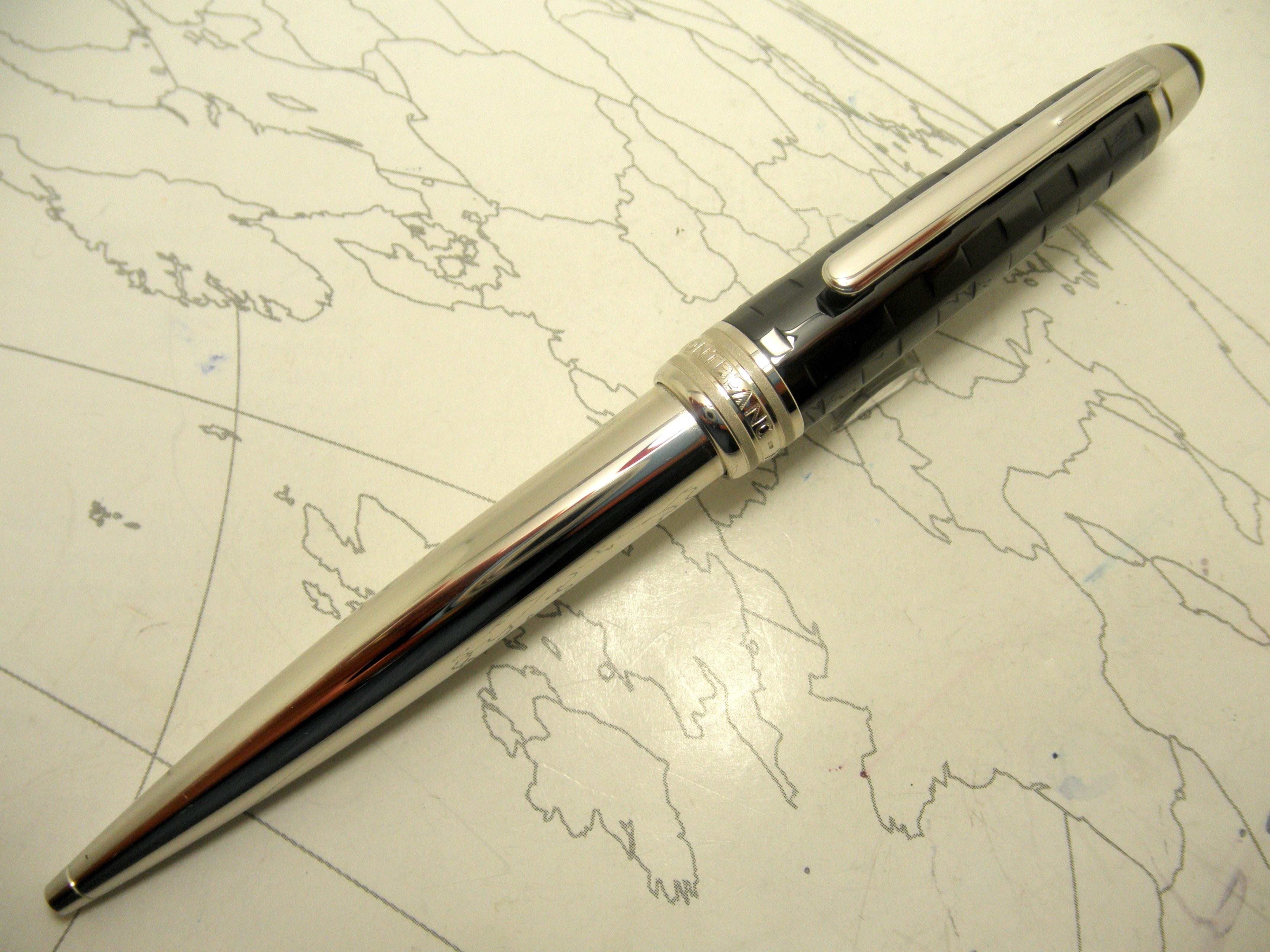 MONTBLANC Meisterstuck Solitaire Ceramic Black Prisma Ballpoint Pen