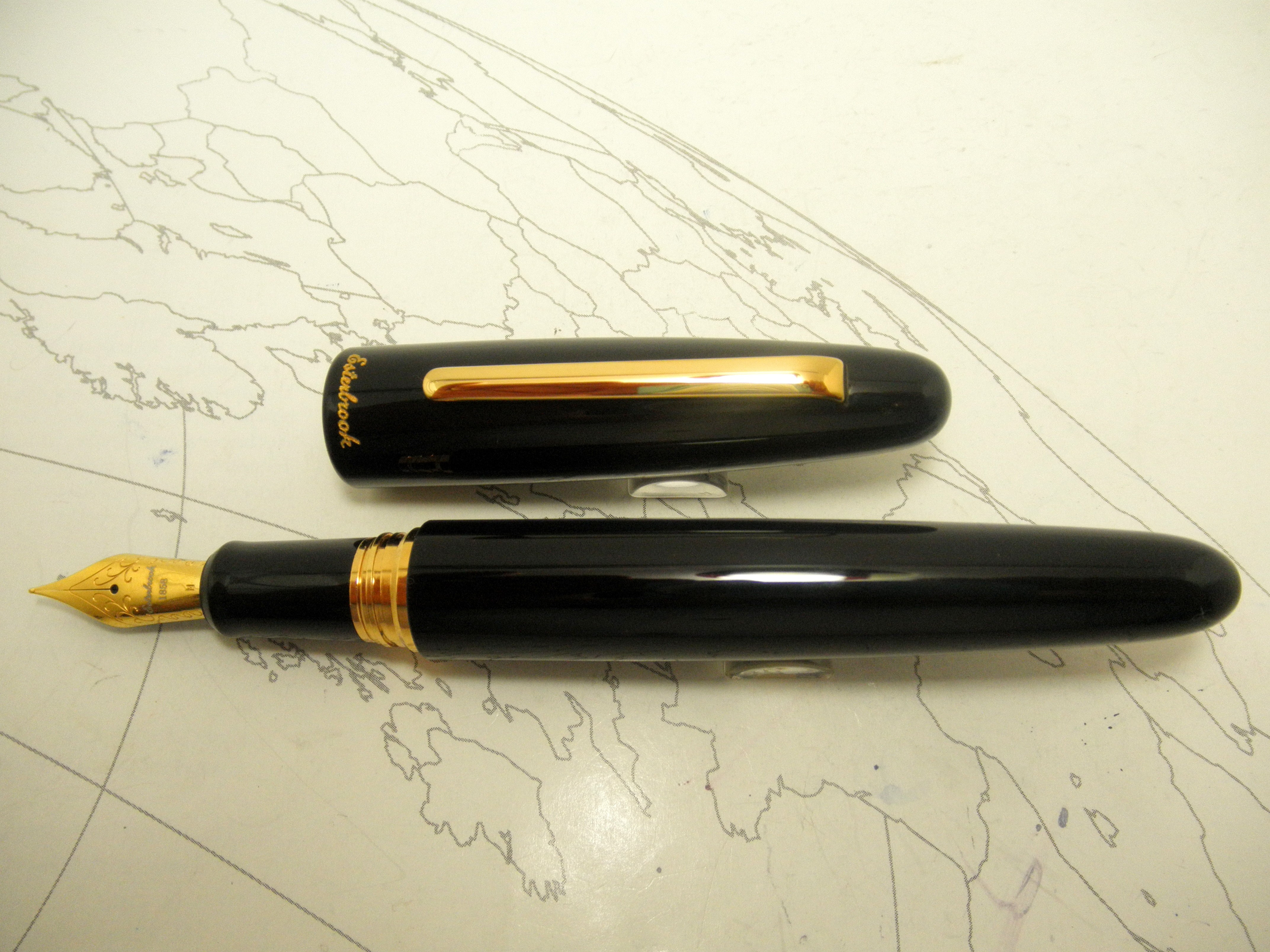 Esterbrook Estie Oversized Fountain Pen Black Gold TrimEsterbrook Estie Oversized Fountain Pen Black Gold Trim