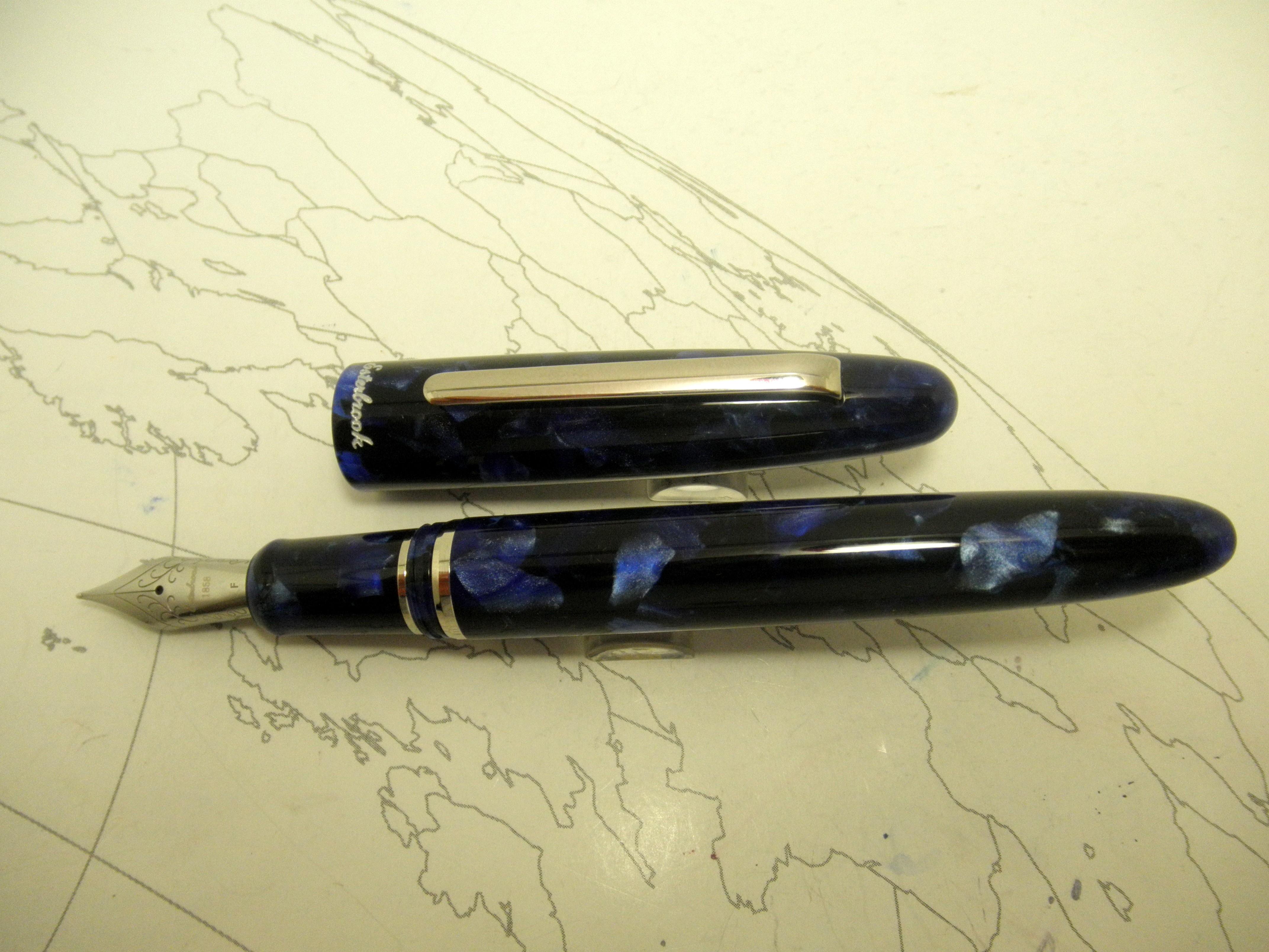 Esterbrook Estie Fountain Pen Ocean Blue Chrome Trim