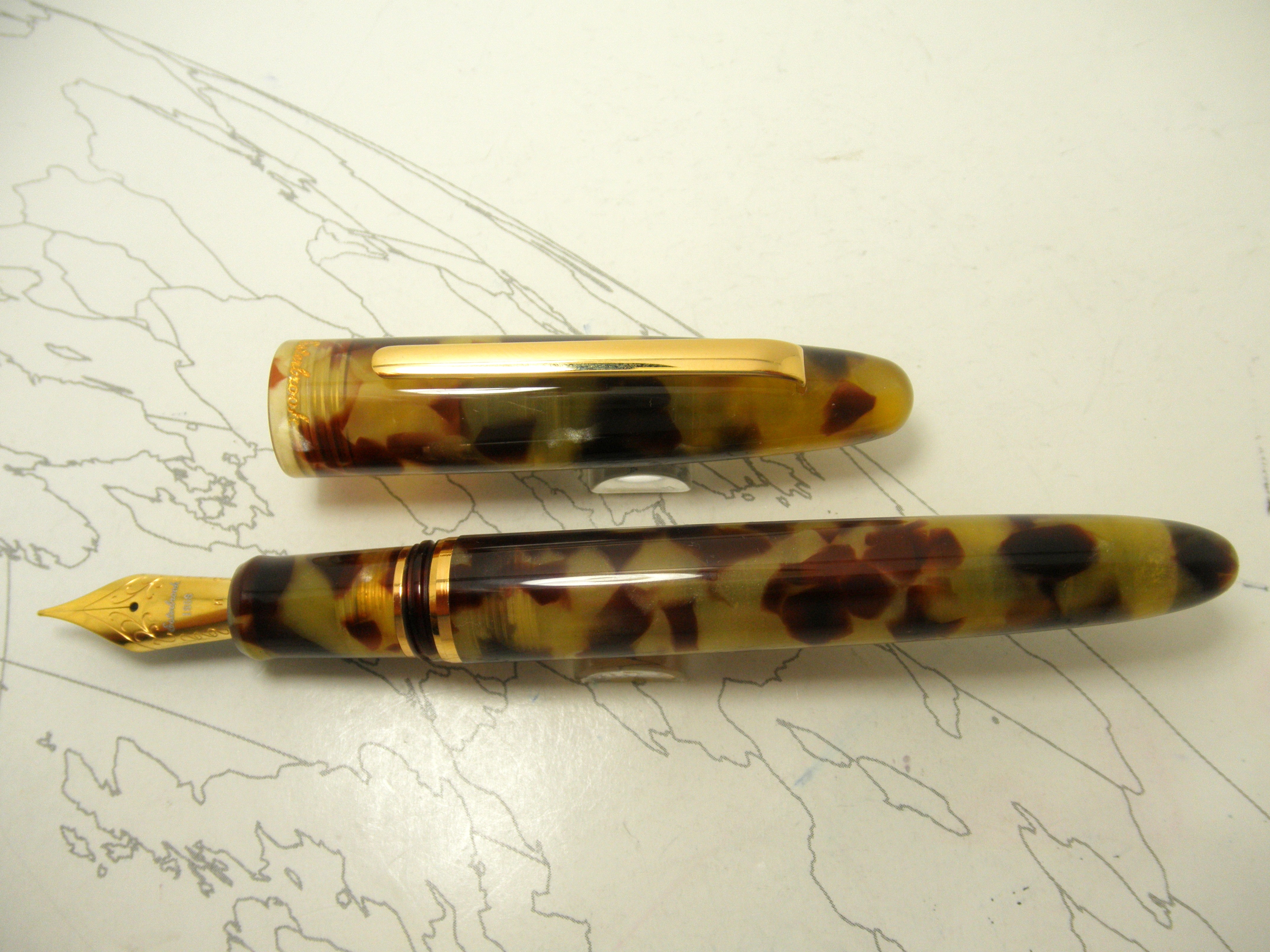 Esterbrook Estie Fountain Pen Tortoise Gold Trim