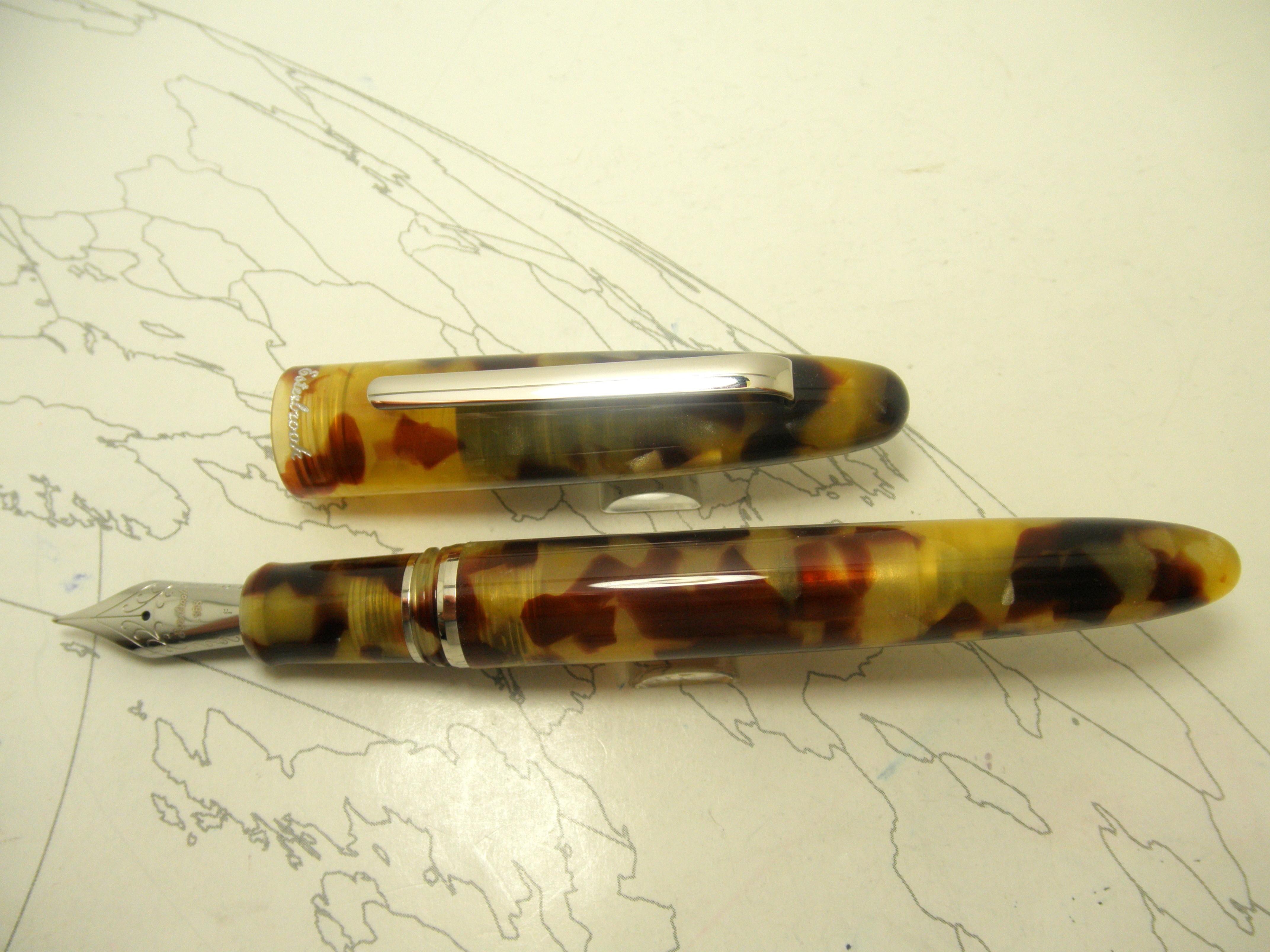 Esterbrook Estie Fountain Pen Tortoise Chrome Trim