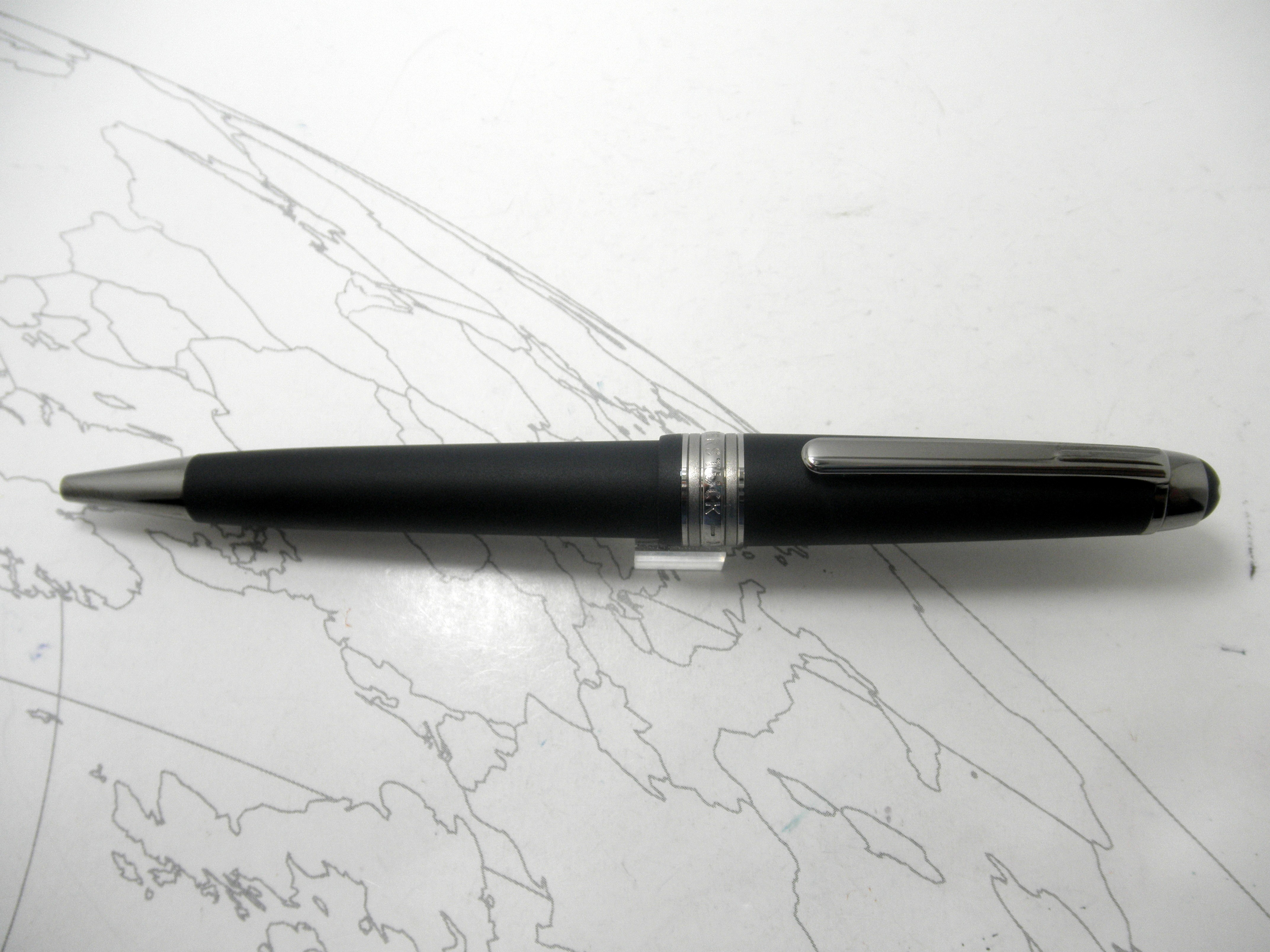 MontBlanc Ultra Black Mid Size Ballpoint Pen