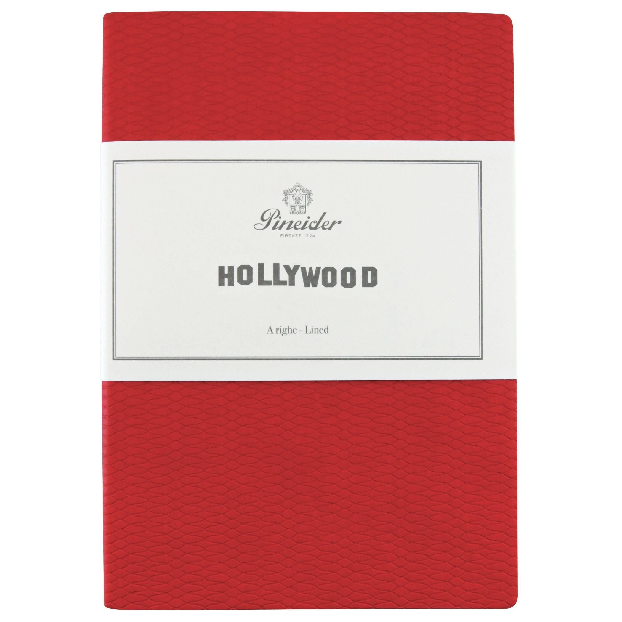 """Pineider Hollywood Notebook """"The Woman In Red"""" Red"""
