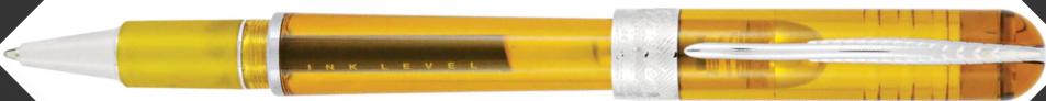 Pineider Avatar UR Demonstrator Amber Rollerball Pen
