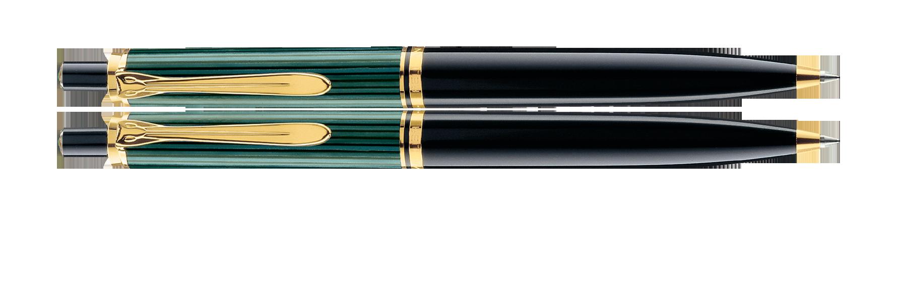 Pelikan Souverän K400 Black/Green Ballpoint Pen