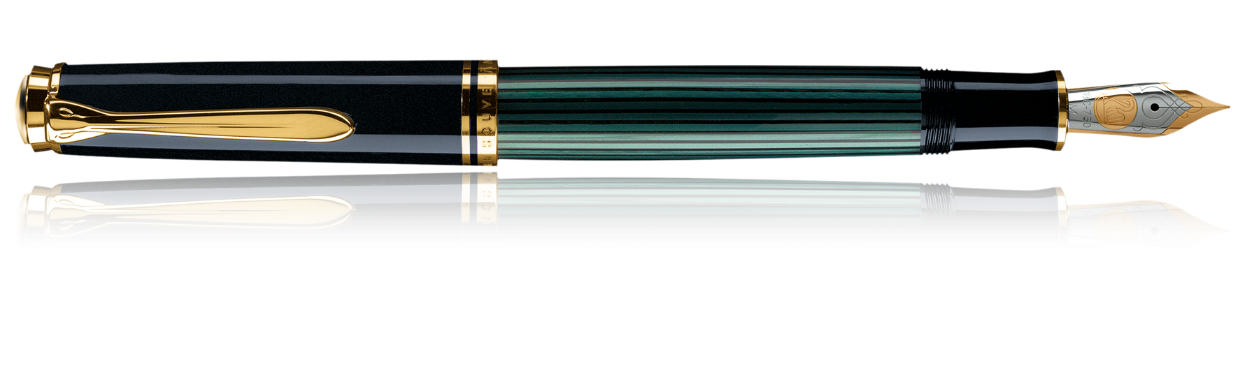 Pelikan Souveran M800 Black and Green Fountain Pen