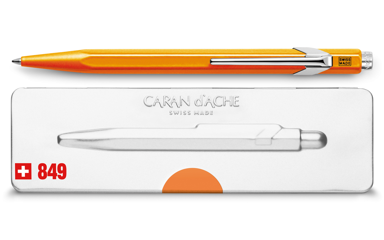 Caran d'Ache 849 Ballpoint Pen Fluorescent Orange