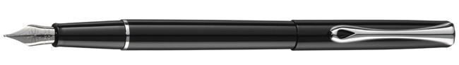 Diplomat Traveller Black Lacquer Fountain Pen