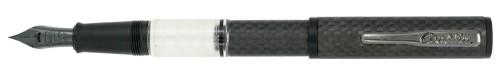 Conklin Carbon Fiber Word Gauge Clear Ink View Fountain Pen