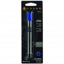 Cross Refills for Ballpoint Pens Blue Medium 2 Pack