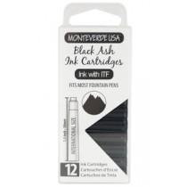 Monteverde Ink Cartridges Black Ash