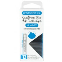 Monteverde Ink Cartridges Caribbean Blue
