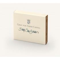 Graf von Faber-Castell Fountain Pen Ink Cartridges Deep Sea Green