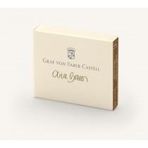 Graf von Faber-Castell Fountain Pen Ink Cartridges Olive Green