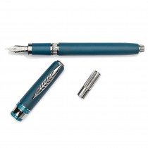 Pineider Alchemist Kilauea Blue Fountain Pen 14k Nib