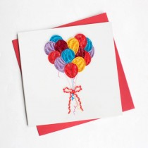 Quilling Card Balloons Bd111