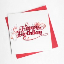 Quilling Card Happy Birthday