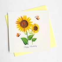 Quilling Card Sunflower Birthday bd130
